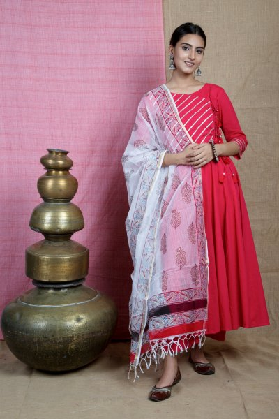 Red-ANARKALI Suit Set